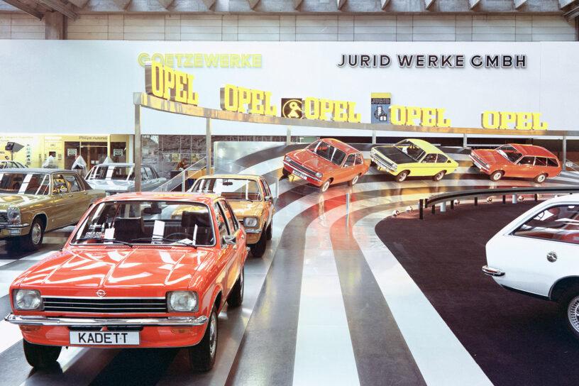 De lancering van de Opel Kadett C op de IAA in Frankfurt